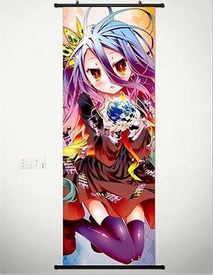 Home Decor Anime Japanese Poster Wall Scroll NO GAME NO LIFE Shiro Cosplay