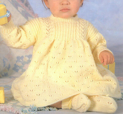 Little girls Knitted Dress- Knitting pattern- 4 ply wool and fits chest 16-22 in