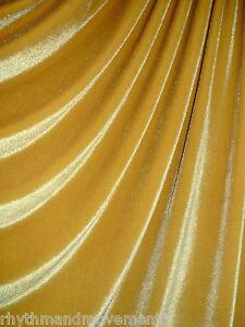 Dance-Costume-Fabric-Gold-Velvet-4-Way-STRETCH-50cm-X-150cm