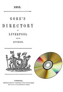 Amical Gore's Directory Of Liverpool 1853-afficher Le Titre D'origine