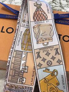 b30b213a9a Details about Louis Vuitton JEU DE LOUIS BB BANDEAU Scarf