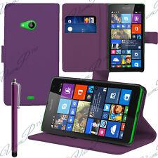 Etui Housse VIOLET Portefeuille Support Video Microsoft Nokia Lumia 535/ Dual