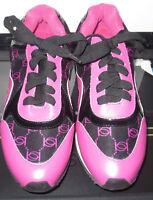 Bebe Logo Athletic Sneakers Pink Black Tennis Shoes Women Sz. 7