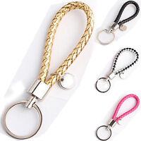 High Fashion Men Women Leather Key Chain Ring Keyfob Car Keyring Keychain Gift