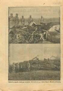"""WWI Airship Zeppelin DCA Saint-Clément Meurthe-et-Moselle War 1917 ILLUSTRATION - France - Commentaires du vendeur : """"OCCASION"""" - France"""