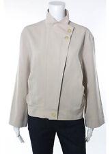CELINE Light Beige Long Sleeve Mock Neck Jacket EUR Sz 38