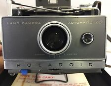 Polaroid Land Camera Automatic 100 Film Accessories Flash Case Lens Filter Timer