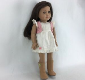 Details About American Girl Doll 18 Long Dark Brown Hair Green Eyes Freckles Fast Ship S03