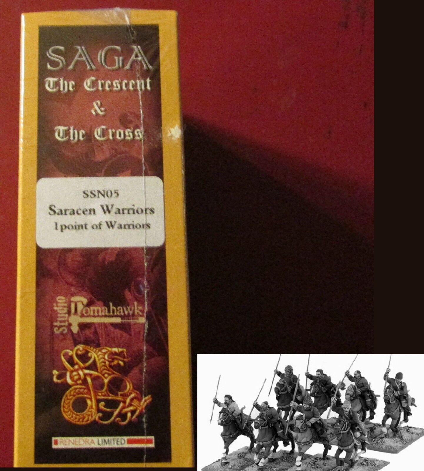 Die saga der halbmond und kreuz ssn05 saracen montiert, krieger (8) 28 mm miniaturen