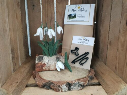 Snowdrops-Aguja Fieltro Kit plantillas /& tutorial