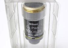 Nikon CFI Plan 10x 0.25 Infinity Eclipse Microscope Objective E200 E400 E600