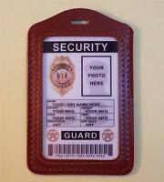 Security Guard Id Badge >>>fully Customizable With Your Photo & Info