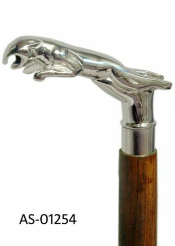 Brass Designer Antique Style Cane Walking Stick Vintage lion head handle cane