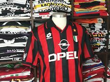 AC MILAN home 1994-95 shirt - MALDINI # 3 -Italy-Lotto-Maglia-Jersey-Italia-Opel