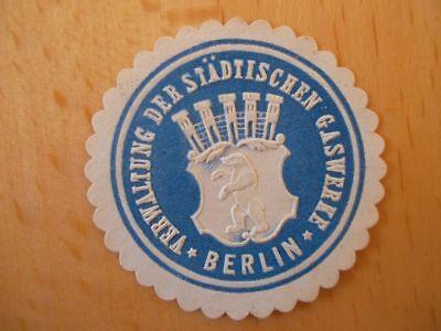 Verwaltung Der Städt Gaswerke Berlin In Vielen Stilen Siegelmarke 15314