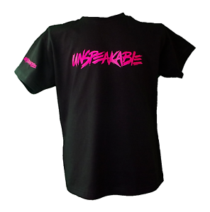 Unspeakable inspired T shirt,fun,gift,size 3-13,Black logo,kids,youtube
