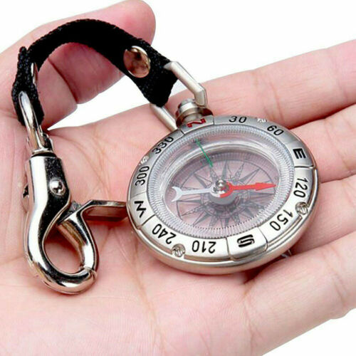 Pocket Compass Retro Vintage Outdoor Camping Hiking Survival Tools with Keychain