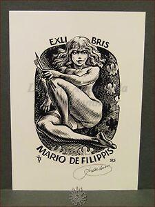 Erotica - Ex-libris Originale Firmato Frank Ivo 325 Mario De Filippis Zr8luoy9-07235838-498340432