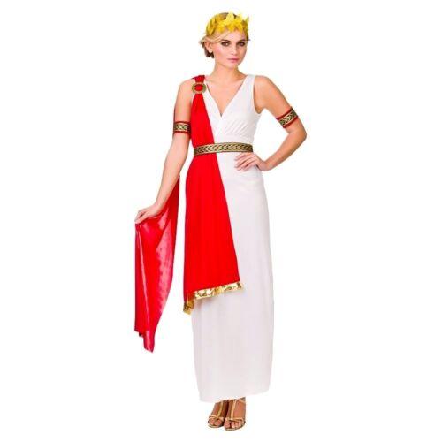 Adulto Glamour Lady Romana Dea Costume Donna Costume da Roma antica Grecia