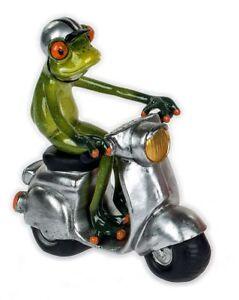 Formano Frosch auf Roller 15 x 16  cm Figur handbemalt