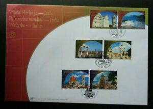[SJ] United Nations World Heritage - Italy 2002 Pyramid Tower Tourist (FDC)