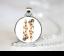 Flaming Dice Collier Pendentif Chaîne Verre Tibet bijoux argent