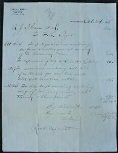 Details about Helena Montana Mining Engineer Frank Sizer orig 1898 January  Mine Survey Bill