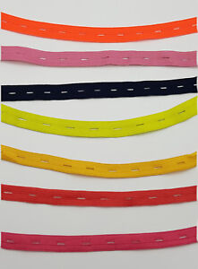 "13MM 1//2/"" BUTTON HOLE KAJ GARMENTS ELASTIC RUBBER TAPE SEWING CRAFT MANY SIZES"