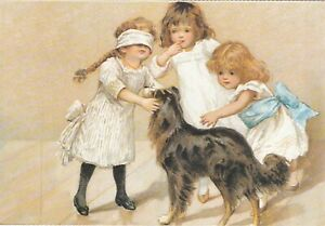 Blind-Mans-Buff-from-Dogs-Postcard-unused-VGC