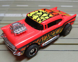 For-H0-Slotcar-Racing-Model-Railway-Rare-Chevy-Bel-Air-with-Tyco-Engine