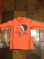 Coolibar Boys Kids Orange Swim Shirt Size S 4-6