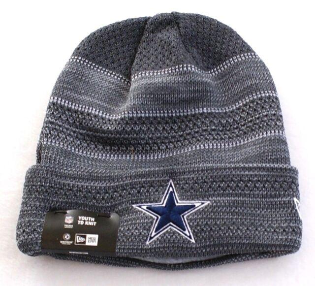 wholesale dealer fa893 afa3f ... free shipping new era nfl dallas cowboys gray knit cuff beanie skull cap  boys youth nwt