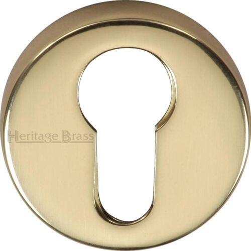 Premium UK Quality Round Concealed Fit Euro Cylinder Lock Key Hole Escutcheon