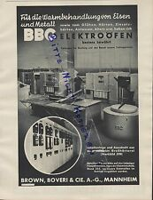 MANNHEIM, Werbung 1939, Brown, Boveri & Cie. AG BBC Elektro-Öfen