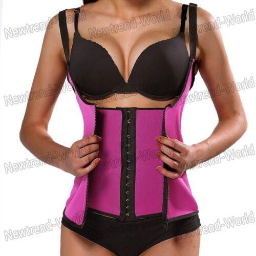Women Waist Slim Trainer Sport Vest Hot Cincher Underbust Corset Shaper Zipper