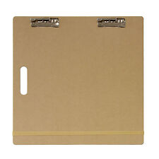 "US Art Supply® 18""x18"" Artist Field Sketch Tote Board Drawing Heavy-Duty Clip"