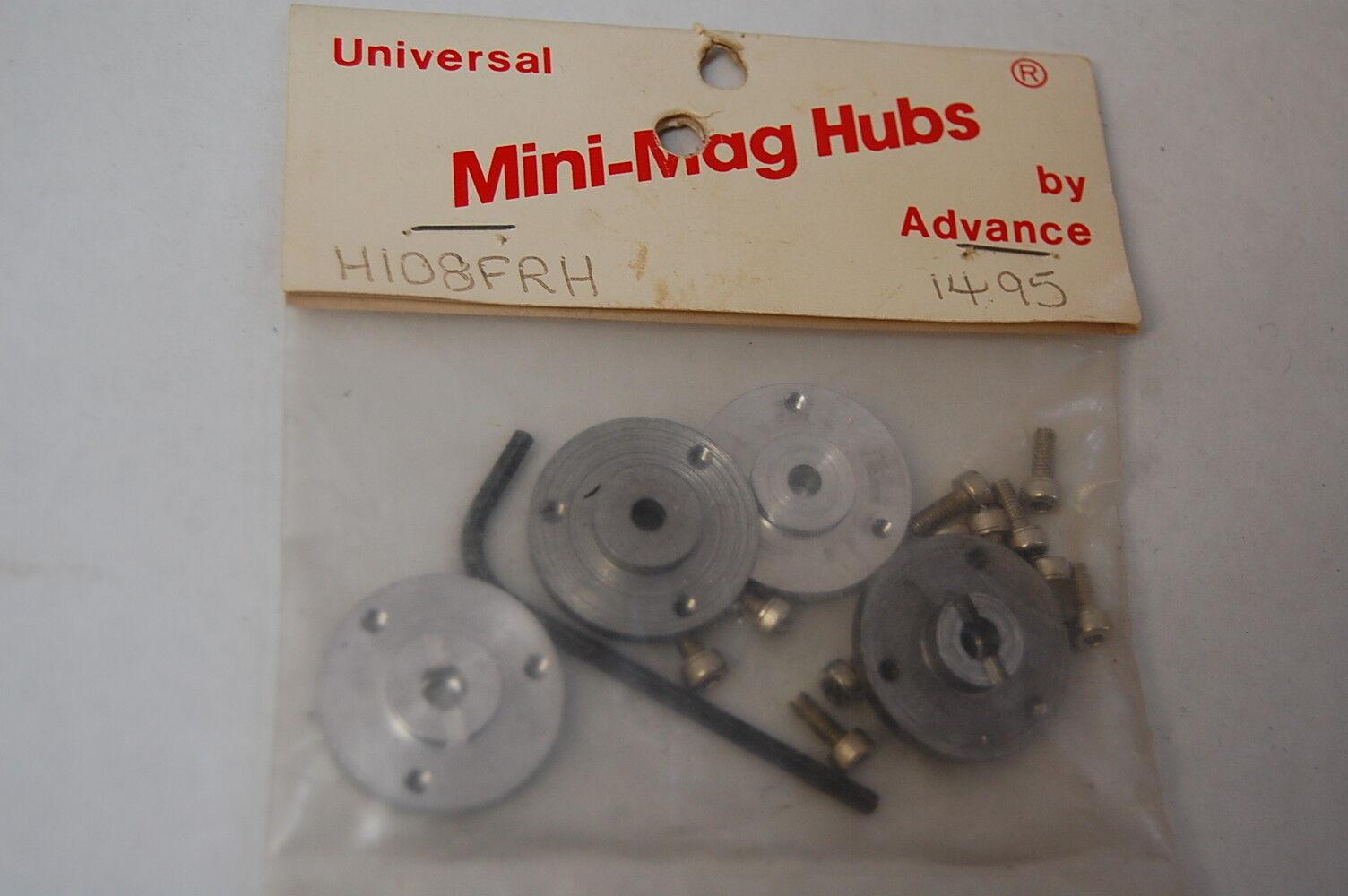Mini Mags Advanced Engineering  Vintage Set H108FRH Aluminum Hubs,