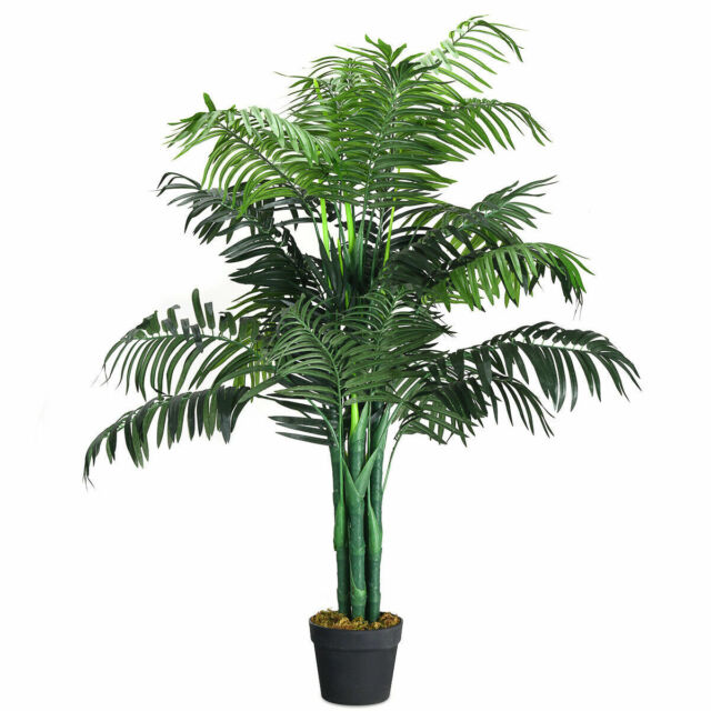7ft Indoor Tropical Plant Large Realistic Golden Cane Tree Artificial Palm Tree
