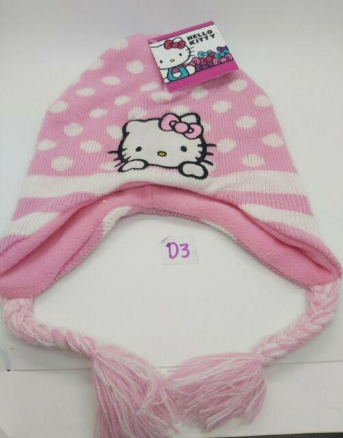 Hello Kitty Pink White Polka Dot Winter Fleece Hat for sale online