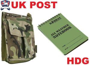 KOMBAT UK A6 NOTEPAD MULTICAMO BTP NOTEBOOK HOLDER POUCH COVER WATERPROOF MTP