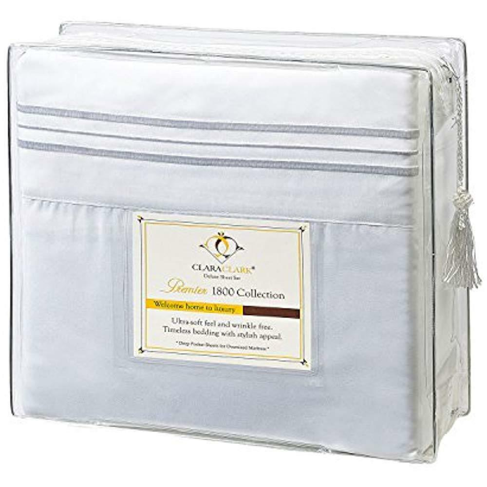 1800 Premier Sheet & Pillowcase Sets Series 4pc Bed - King, White,