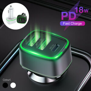 18W-PD-Car-Charger-3-Ports-Fast-Charge-USB-Type-C-12V-Cigarette-Lighter-Adapter