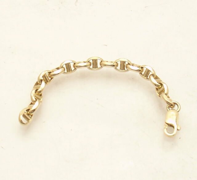1.25mm 14k Yellow Gold Figaro Chain Necklace Extender Safety Chain