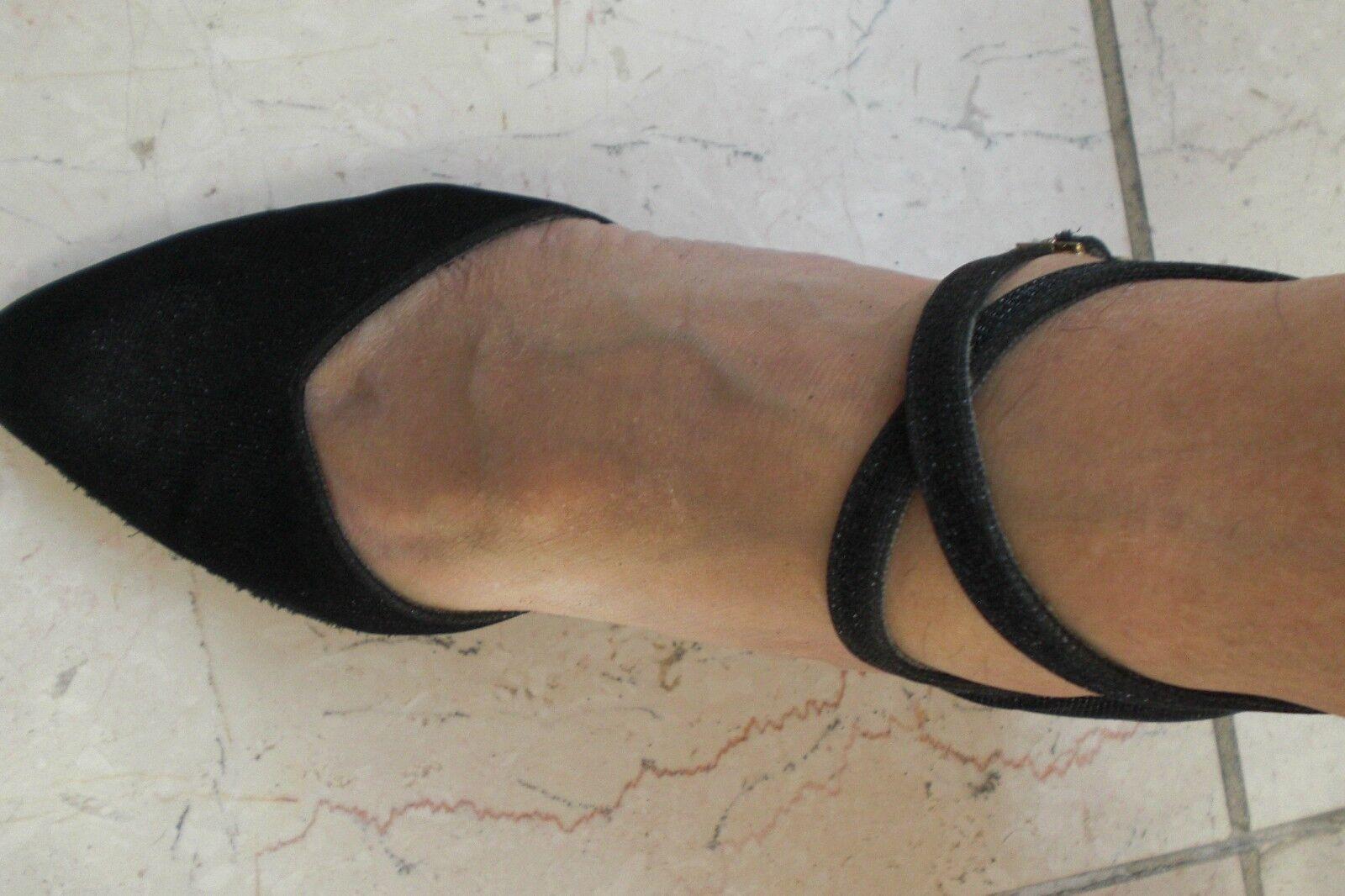 INTERNATIONAL DANCE SHOES SHOES SHOES LADIES Damen schwarz Peeptoe Lurex black size 3,5 ce9973