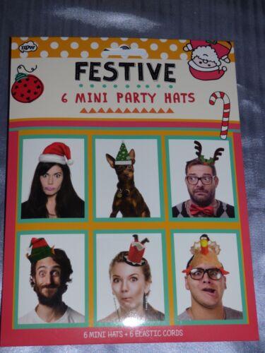 Fête De Noël Papier Chapeaux Pkt 6 Fun ELF Parti Dîner PHOTO BOOTH XMAS Selfie
