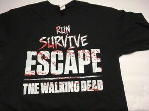 Walking-Dead-034-RUN-SURVIVE-ESCAPE-034-Size-M-Medium-T-Shirt