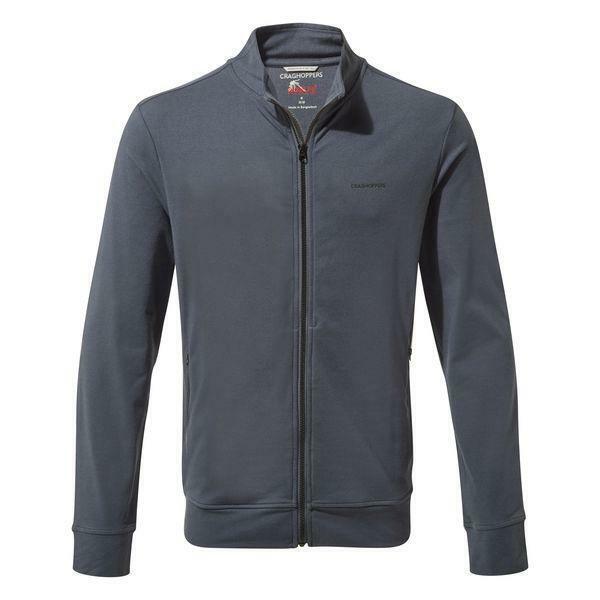 Craghoppers Herren Nosilife Alba Sweat Shirt Full Zip Jacket - Ombre Blau