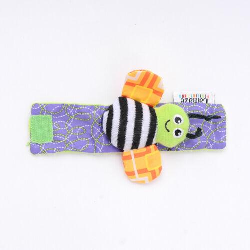 4er Set Baby Kinder Rasselsocken Handgelenk Handgelenkbänder Rassel Spielzeug DE