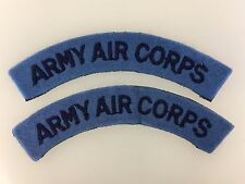 PAIR of Britain/British Army WWII 'Army Air Corps' cloth shoulder titles