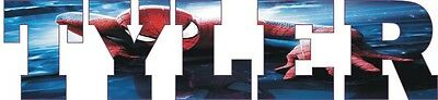 Children's Name Personalised Spiderman Bedroom Wall Sticker (WA261)